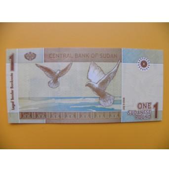 bankovka 1sudánská libra Sudán 2006 - série AG