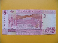 bankovka 5 sudánských liber Sudán 2006 - série CB