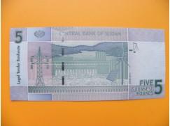 bankovka 5 sudánských liber Sudán 2011 - série CJ