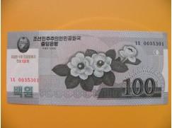 bankovka  100 wonů Severní Korea  2008