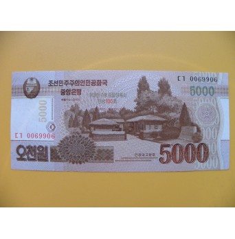 bankovka  5000 wonů Severní Korea  2013