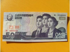 bankovka 50 wonů Severní Korea 2002 - specimen