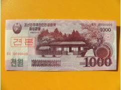 bankovka 1000 wonů Severní Korea 2008 - specimen