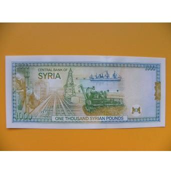 bankovka 1000 Syrských liber 1997