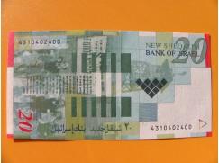 bankovka 20 nových šekelů - Izrael