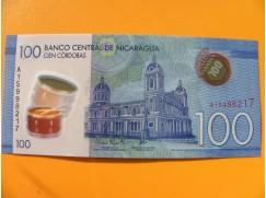 bankovka 100 cordobů - Nicaragua - série A- polymar