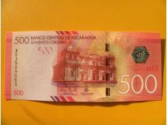 bankovka 500 cordobů - Nicaragua - série A