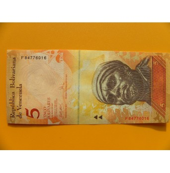 bankovka 5 bolívarů Venezuela - série F