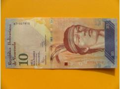 bankovka 10 bolívarů Venezuela - série X