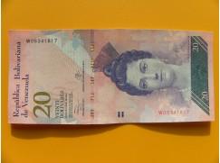 bankovka 20 bolívarů Venezuela - série W