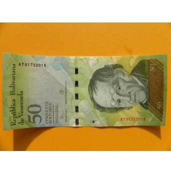 bankovka 50 bolívarů Venezuela - série AT