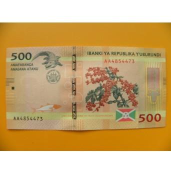 bankovka 500 franků Burundi  - série AA