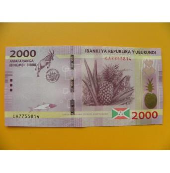 bankovka 2000 franků Burundi  - série CA