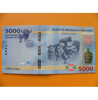 bankovka 5000 franků Burundi  - série DB