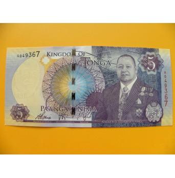 bankovka 5 paʻanga - království Tonga  - série A