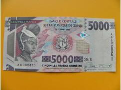 bankovka 5000 franků Guiena/2015  - série AA