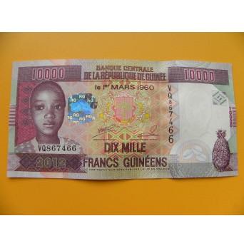 bankovka 10 000 franků Guiena/2012  - série VQ