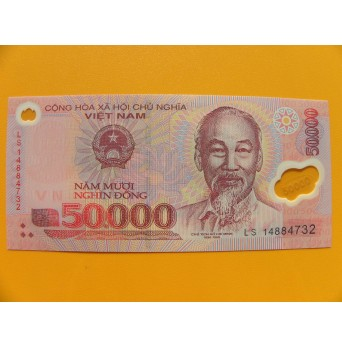 bankovka 50000 dongů Vietnam -polymar - série LS
