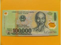 bankovka 100000 dongů Vietnam -polymar - série KG