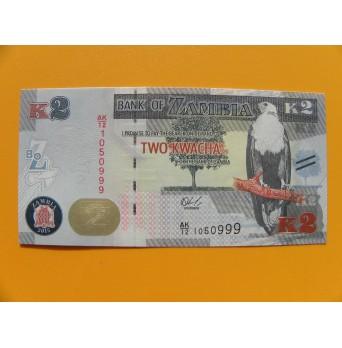 bankovka 2 kwachy Zambie/2015 - série AK