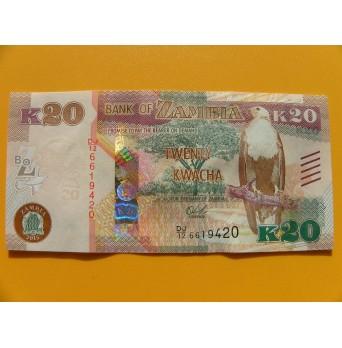 bankovka 20 kwachů Zambie/2015 - série DJ