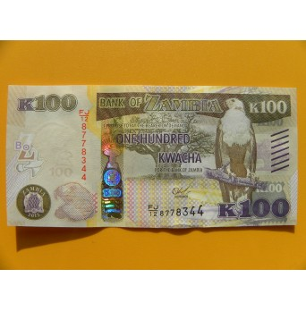bankovka 100 kwachů Zambie/2015 - série FJ