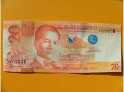 bankovka 20 peso Filipíny/2015 - série FA
