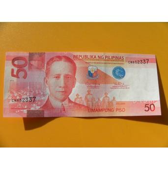 bankovka 50 peso Filipíny/2016 - série CN