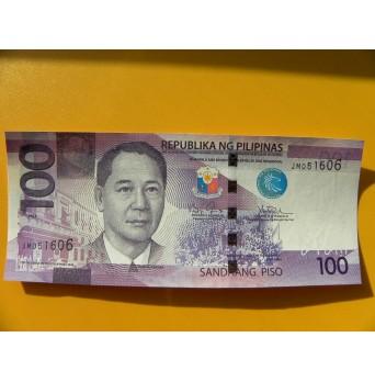 bankovka 100 peso Filipíny/2016 - série JM