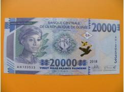 bankovka 20 000 franků Guiena/2018