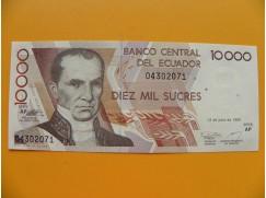 bankovka 10 000 ekvádorských sucres/1999