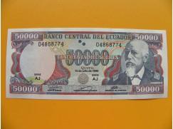 bankovka 50 000 ekvádorských sucres/1999