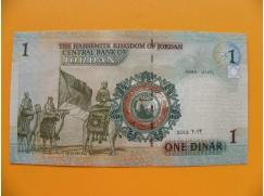 bankovka 1 jordánský dinár/2013