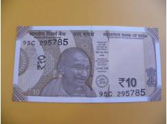 bankovka 10 indických rupií/2017
