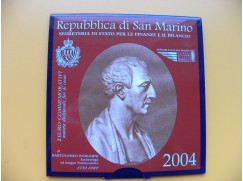 2 euro mince San Marino 2004