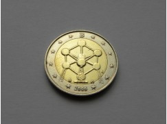 2 euro mince Belgie - Renovace Atomia v Bruselu - 2006 UNC