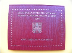 2 euro mince VATIKÁN 2008