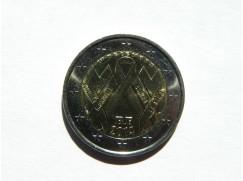 2 euro mince sběratelské Francie 2014 UNC - Boj proti AIDS