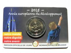 2 euro mince sběratelské Belgie 2015 - Evropský rok vývoje  UNC