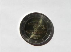 2 euro mince Lotyško 2015 - čáp UNC