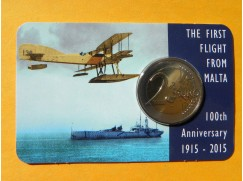 2 euro mince sběratelské Malta 2015 - první let holandská ražba  UNC