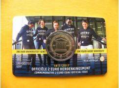 2 euro mince sběratelské Belgie 2017 UNC - 200 let od založení univerzity v Gentu