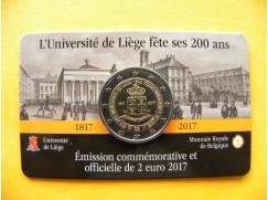 2 euro mince sběratelské Belgie 2017 - Univerzita v Lutychu FR - UNC
