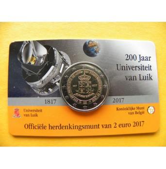 2 euro mince sběratelské Belgie 2017 - Univerzita v Lutychu NL - UNC