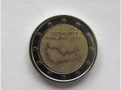 2 euro mince sběratelské Finsko 2017 - Nezávislost - UNC