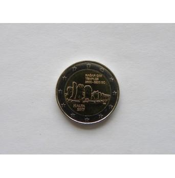2 euro mince sběratelské Malta 2017 -Hagar Qim - UNC