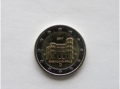 2 euro mince sběratelské Německo 2017 - 1 ks - Porta Nigra - UNC