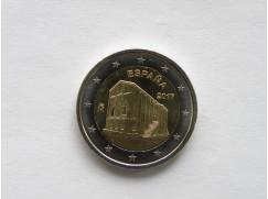 2 euro mince sběratelské Španělsko  2017 -Památky Ovideo a království Asturias - UNC