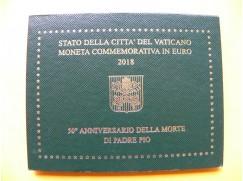 2 euro mince sběratelské Vatikán 2018 -otec Pio - UNC
