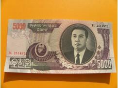 bankovka  5000 wonů Severní Korea  2005